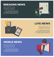 breaking news and journalism profession flat vector image vector image