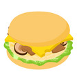 burger mushrooms icon isometric 3d style vector image vector image