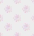 Cartoon sun seamless pattern circle symbol vector image vector image