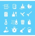 Cleaning and higiene white Icons set vector image vector image