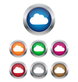 Cloud buttons vector image