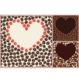 coffee love pattern vector image vector image