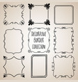 collection of nine hand drawn decorative bo vector image