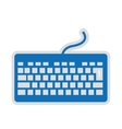 computer keyboard isolated icon design vector image vector image