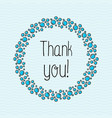 concept thank you with bubbles for web site vector image vector image