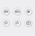 control panel brightness adjustment vector image