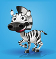 cute cartoon character baby-zebra vector image