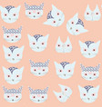 cute cats abstract nature seamless pattern it is vector image