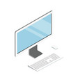 desktop computer isometric 3d icon vector image