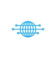 digital globe logo icon design vector image vector image