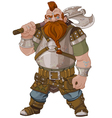 Fantasy Style Dwarf vector image vector image