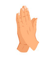 female hand sign human finger gesture sign sign vector image vector image
