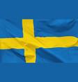 flag kingdom sweden vector image