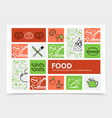 food infographic concept vector image
