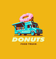 food truck logo donuts vector image vector image