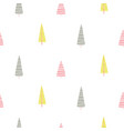 forest trees scandinavian simple cute print vector image vector image