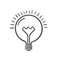 hand drawn lightbulb vector image