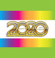 happy 2020 new year gold party celebration card vector image vector image