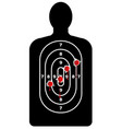 human shape target with bullet holes vector image vector image