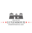 Independence Day Luxembourg vector image vector image