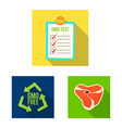 isolated object of and icon set of and s vector image