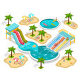 isometric aqua park composition vector image