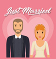just married couple vector image vector image