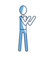man stand person icon pictogram character vector image