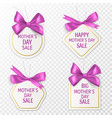 mother day tags cute sale labels vector image