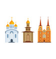 orthodox christian church christian chapel vector image