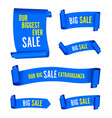 our big sale set of blue banners vector image vector image
