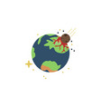 planet earth colored icon element of space signs vector image