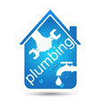 plumbing home repair design vector image vector image