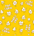 popcorn seamless pattern vector image