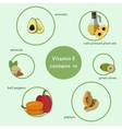Products which contain vitamin C vector image