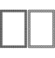 rectangular frame vector image vector image