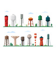 retro and modern water towers set geometric vector image vector image