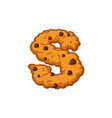 s letter cookies cookie font oatmeal biscuit vector image vector image