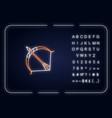 sagittarius sign neon light icon vector image