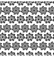 seamless pattern graphic black flowers on white vector image