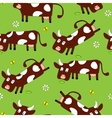 Seamless pattern with cute cows vector image