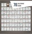 set of 70 designs of hand-drawn arrow vector image