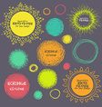 Set of hand-drawn scribble circles and decorative vector image vector image