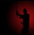silhouette of a samurai vector image