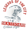 Skateboarding - urban style vector image vector image