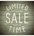 slogan wood color limited sale vector image vector image