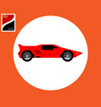 sports car in red color vector image vector image