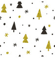 stylish christmas pines seamless pattern vector image