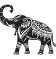 Stylized decorated elephant vector image