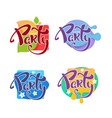 summer party stickers and badges collection vector image